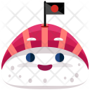 Sushi Emoji Face Icon