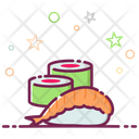 Sushi Japanese Food Seafood Icon