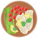 Sushi Salad Green Icon