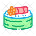 Sushi Roll Caviar Icon