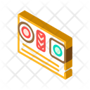 Sushi Dish Isometric Icon