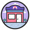 Sushi Restaurant Japanese Food Court Cafeteria Icon