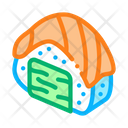 Sushi Roll Salmon Icon