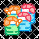 Sushi Roll Shrimp Icon