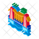 Suspension Bridge Suspension Suspension Bridge In Water Icon