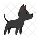 Sniff Cautious Dog Icon