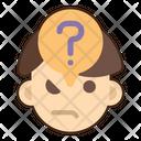 Suspicious Doubtful Anonymous Icon