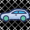 Solid Suv Transport Icon