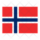 Svalbard And Jan Mayen Flag Flags Icon