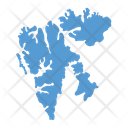 Svalbard Norway Map Icon