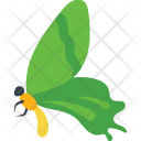 Swallowtail Flying Butterfly Side View Icon