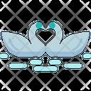 Swan Heart Love Icon