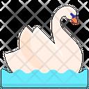 Swan Bird Relationship Icon