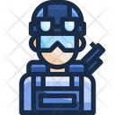 Swart Spacial Force Spacial Officer Icon
