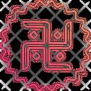 Swastika Hinduism Buddhism Icon