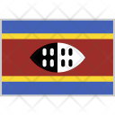 Swaziland Flag Country Icon