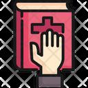 Swear Bible Hand Icon