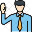 Swear Hand Court Icon
