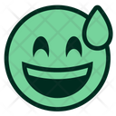 Smiley Excited Sweat Icon