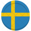 Sweden Flag Circle Icon