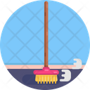 Sweep Cleaning Broom Icon