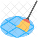 Sweeping Floor Broomstick Icon