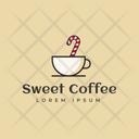 Sweet Cafe Hot Coffee Cafe Logomark Icon