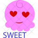 Sweet Pink Cartoon Icon