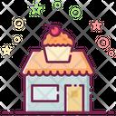Sweet Market Sweet Shop Cake Store Icon