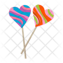 Sweethearts Heart Lollipops Heart Candies Icon