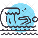 Swimming Wave Swimmer Icon