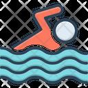 Swim Float Away Sail Away Icon