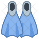 Fins Flippers Swim Icon