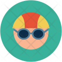 Swimmer Face Sportsman Icon