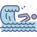 Swimming Wave Beach Icon