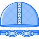 Swimming Cap Glasses Icon