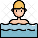 Swimming Man Sea Icon