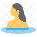 Swimming Woman Pool Icon