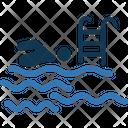Swimming Swimmer Summertime Icon