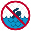 Swimming Waves Beach Icon
