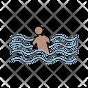 Swimming Accident Icon