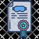 Swimming Certifcate Icon