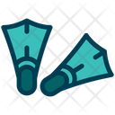 Fins Diving Swimming Icon