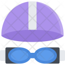 Swimming Goggles Glass Icon