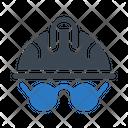 Helmet Glasses Protection Icon