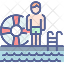 Pool Holiday Vacation Icon