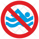 Swimming not allowed Icon