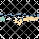 Swimming Parachute Icon