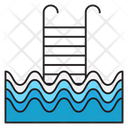Swimming Stair Pool Icon