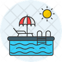 Swimming Pool Water Swimmer Icon